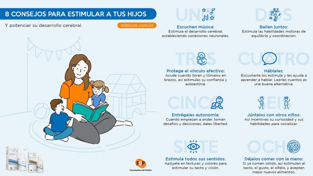 consejos para estimular a tus hijos infografia